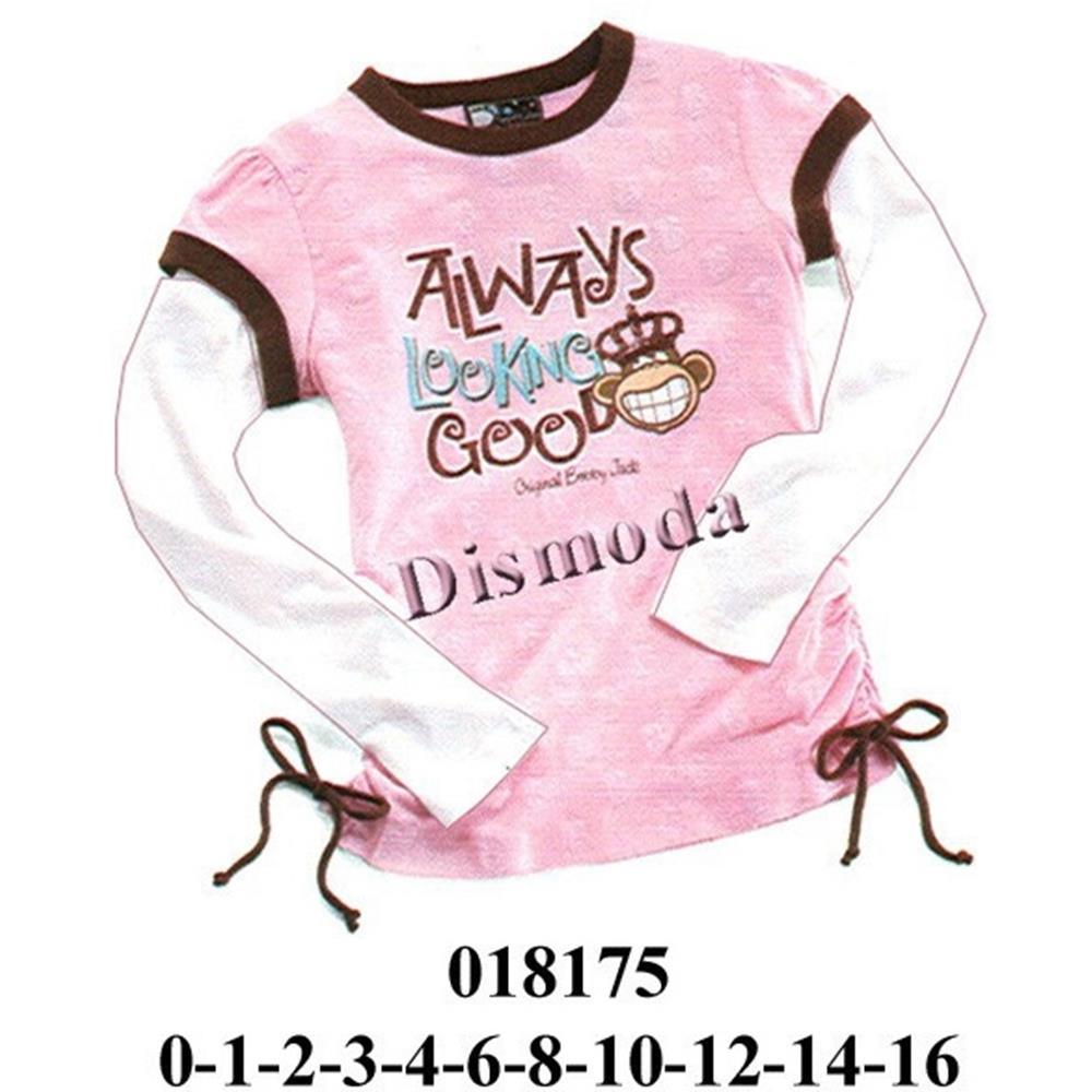 018175 - Polera niña con doble manga