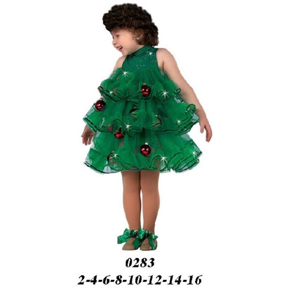 0283 - Disfraz de árbol navideño