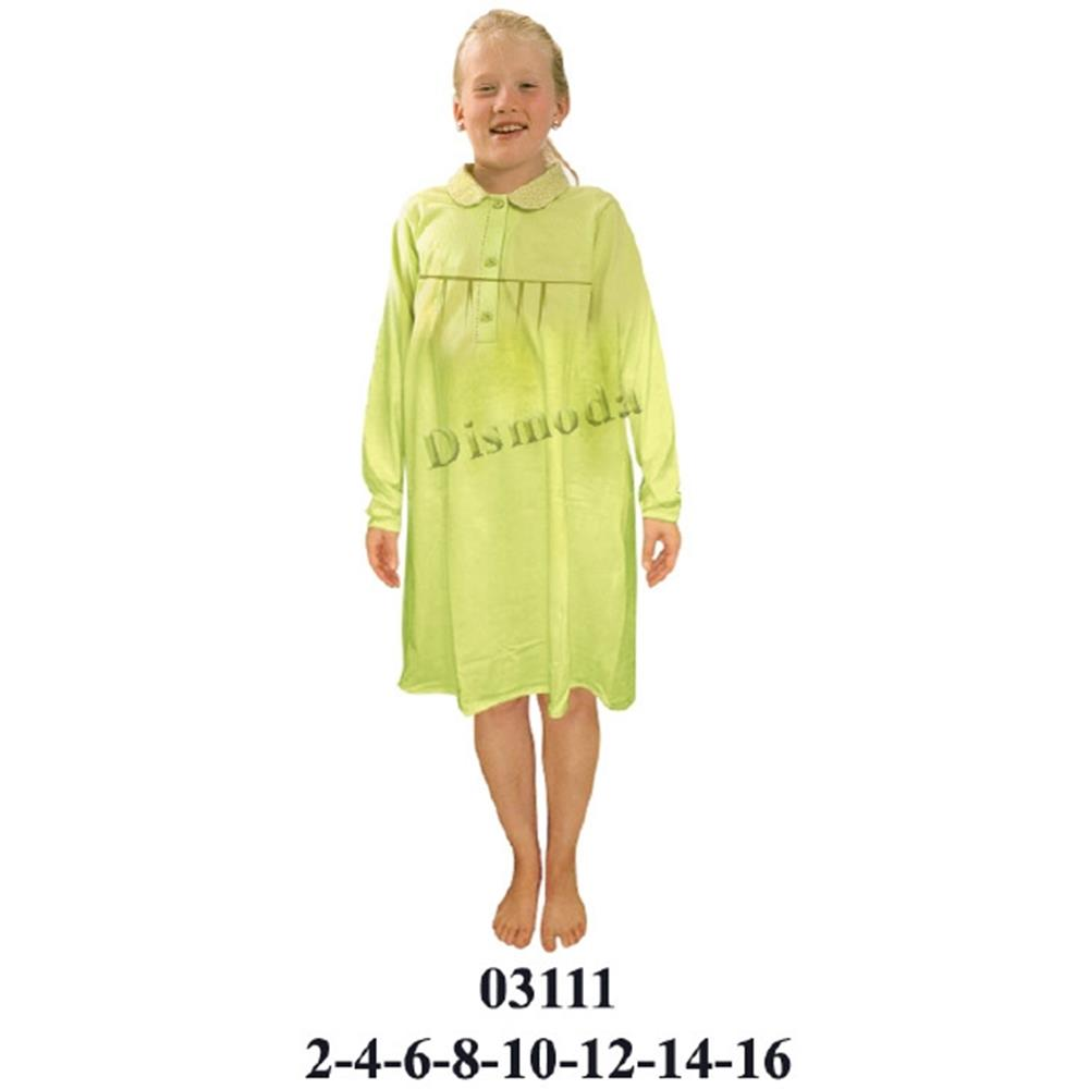 03111 - Camisola niña cuello bebe, canesú en delantero,