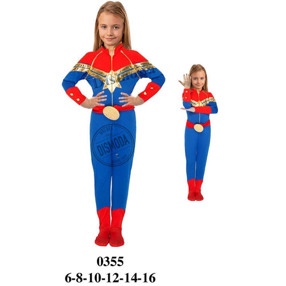 0355 - Disfraz de capitana marvel