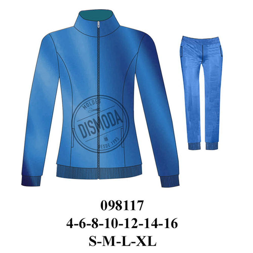 098117 - Buzo dama y niña semi entallado pantalon con puño en basta