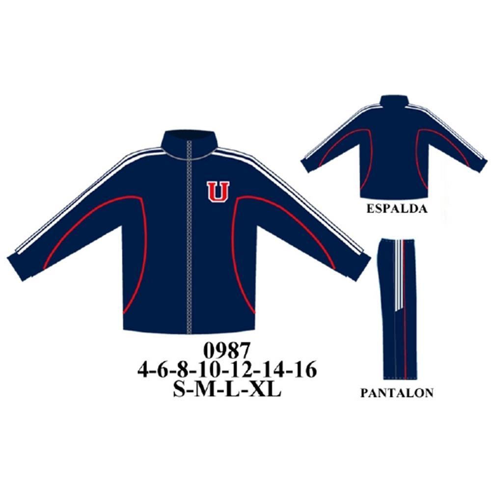 0987 - Buzo manga raglan con cortes,pantalon con franja en costado