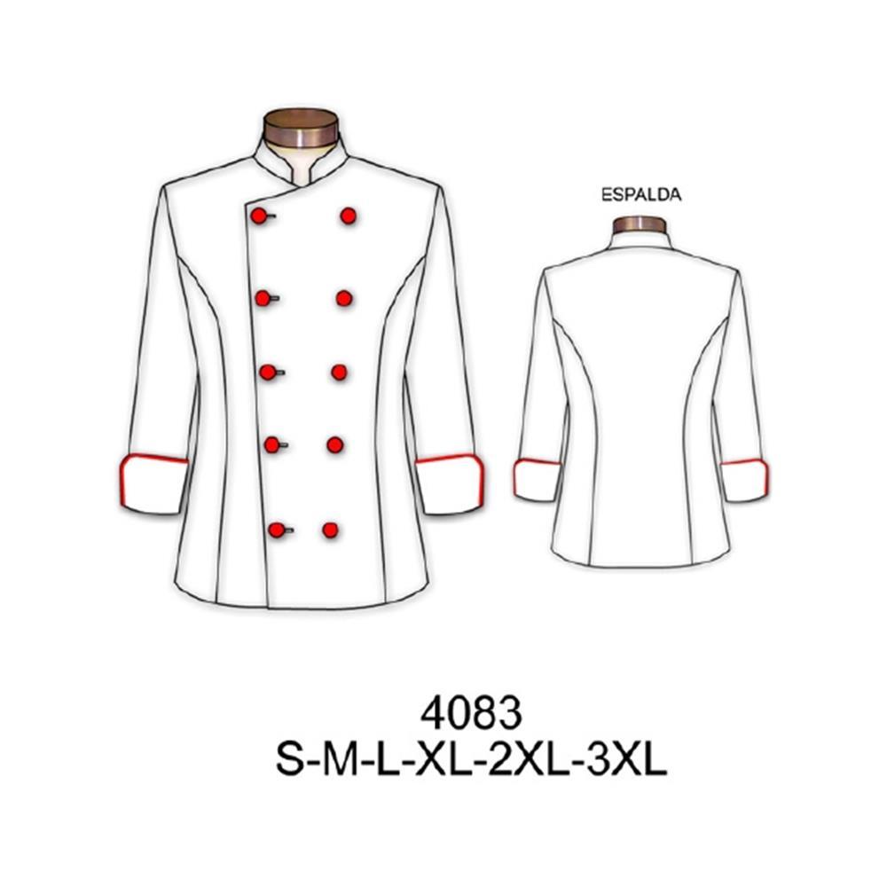 4083 - Chaqueta chef mujer